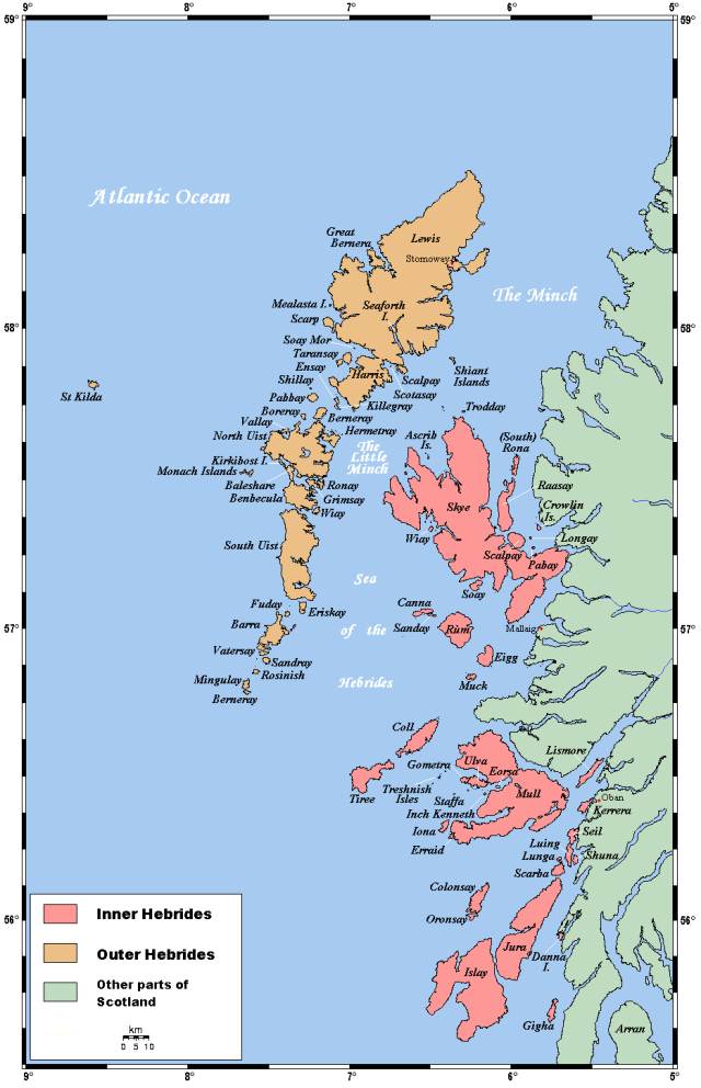 The Hebrides in Western Scotland