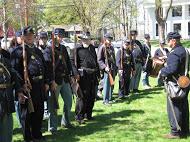 15th Massachusetts Regiment re-enactors